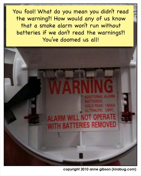 why does my smoke alarm have this warning?
